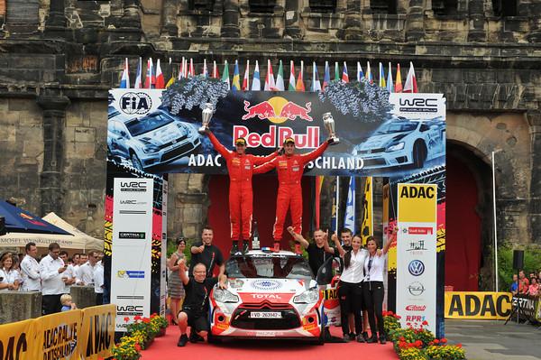 WRC-2013-ALLEMAGNE-DS3-Podium-CHARDONNET-DE-LA-HAYES-Photo-Jo-LILLINI.
