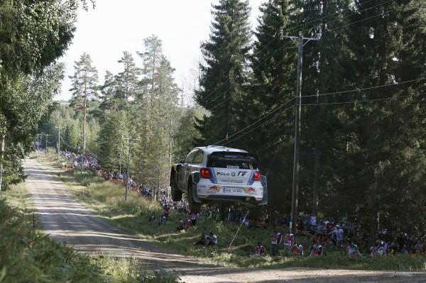 WRC 2013 FINLANDE - La VW POLO de Seb OGIER vendredi.