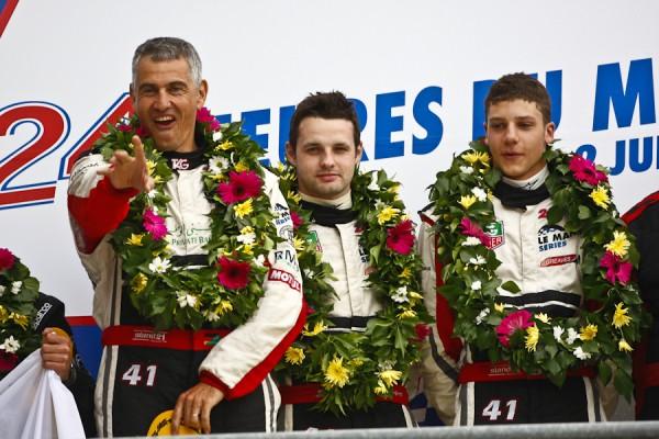 24 HEURES DU MANS 2011 OLIVIER LOMBARD 1er podium LP2 Team ZYTEK.