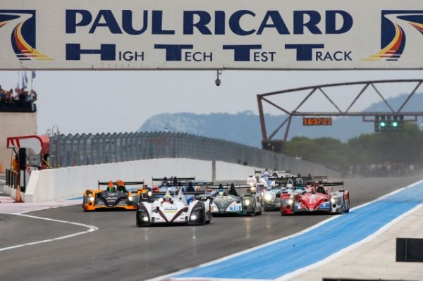 ELMS 2013 PAUL RICARD - le depart avec le Team MURPHY de HARTLEY - HITSCHI devant le peloton- photo Gilles VITRY.