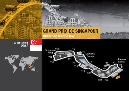 F1 2013 Plan du circuit de SINGAPOUR