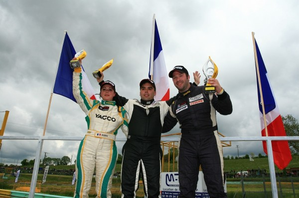 RALLYCROSS-2013-Podium-Super-1600.-3e-Adeline-Sangier-1er-Dorian-Launay-2eme-Julien-Fébreau-Photo-AFOR