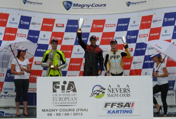 SUPERKART 2013 MAGNY COURS Podium course 1