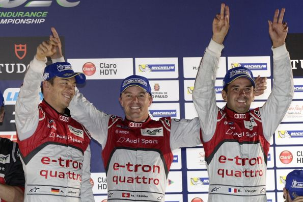 WEC-2013-INTERLAGOS-Podium-TRELUYER-FASSLER-LOTTERER