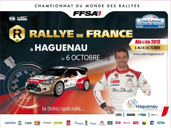 WRC 2013 RALLYE DE FRANCE affiche ville HAGUENAU