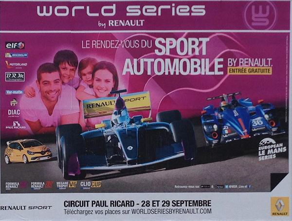 WSR 2013 PAUL RICARD Affiche