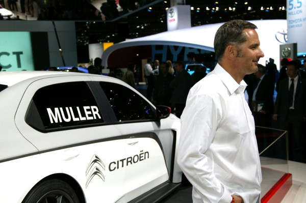 YVAN MULLER 2013 au SALON DE FRANCFORT - Stand CITROEN - Photo Claude MOLINIER