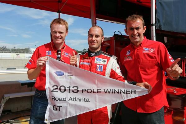 ALMS PETIT LE MANS 2013 les pilotes de la FERRARI F458 RISI Competizione pole en GT.jp