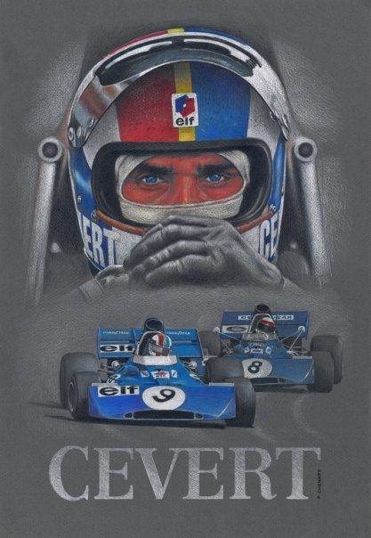F1 Cevert portrait casque