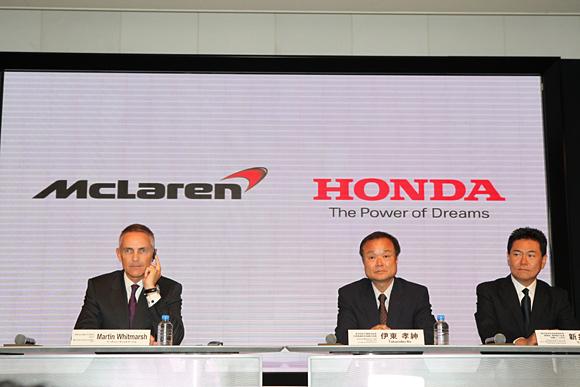 F1 MARTIN WHOTMARSCH TAKANOBU ITO et Yasuhisa ARAI de HONDA Photo HONDA