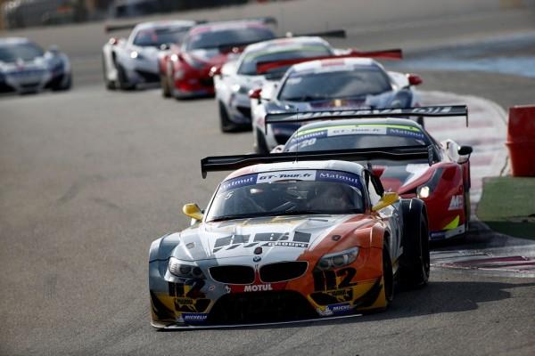 GT-RTOUR-2013-PAUL-RICARD-La-BMW-de-ESTRE-HASSID-mene-le-peloton