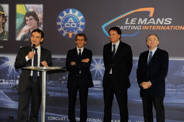Pierre FILLON disqcours lors de l'inauguration du nouveau circuit de karting le vendredi 25 octobre 2013