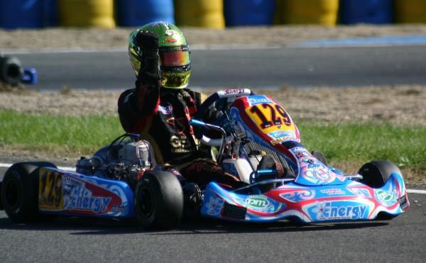 KARTING 2013 VARENNES - KZ2 Le jeune Dorian Boccolacci déjà Lotus F1 Junior team l'emporte