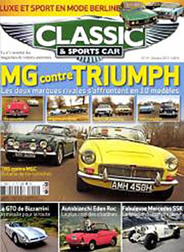 MAGAZINE CLASSIC SPÖRTS CAR Octobre 2013