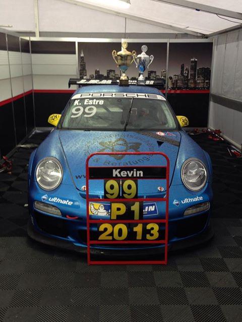 PORSCHE-CARRERA-CUP-ALLEMANDE-la-voiture-N°-99-Championne-avec-Kevin-ESTRE