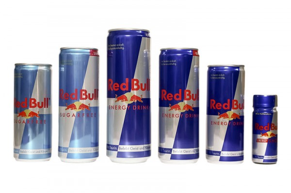 RED BULL  les differentes canettes