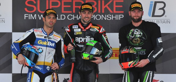 SUPERBIKE-2013-Le-podium-course-1-LAVERTY-MELANDRI-SYKES