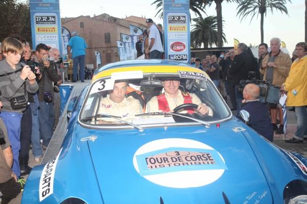 TOUR DE CORSE HISTORIQUE 2013 ALPINE de Jean Charles REDELE au depart ILE ROUSSE - Photo HAASE FOTO CLASSI