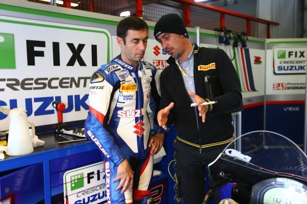 Vincent Philippe apprend vite les Pirelli Photo David Wood Suzuki Racing