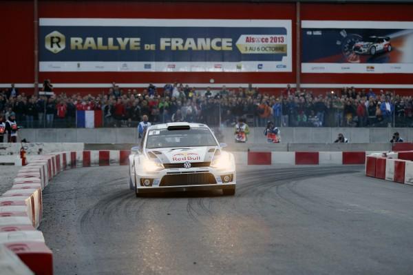 WRC 2013 ALSACE LA VW POLO de Seb OGIER et Julien INGRASSIA - Les nouveaux Champions du monde le jeudi 3 Octobre a Strasbourg