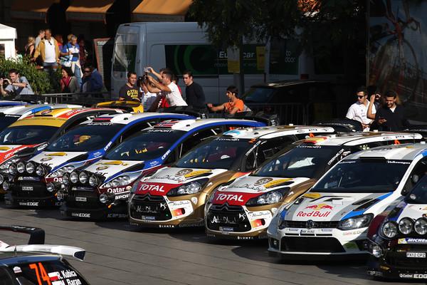WRC-2013-CATALOGNE-le-parc-ferme