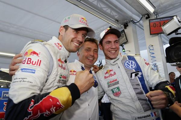 WRC 2013 FINLANDE - VICTOIRE pour Seb OGIER et Julien INGRASSIA avec le boss Jdu Team VW JOST CAPITO.
