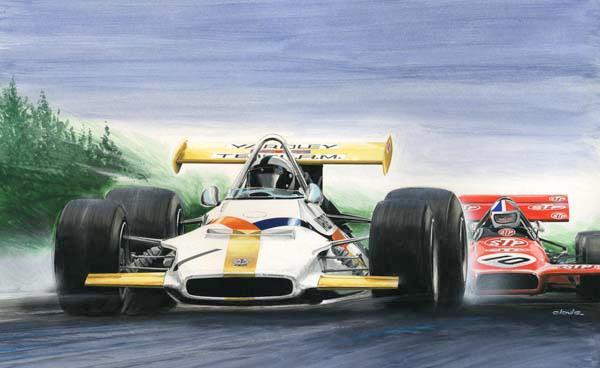 CLOVIS GP BELGIQUE Pedro Rodriguez BRM P153 Chris Amon March 701