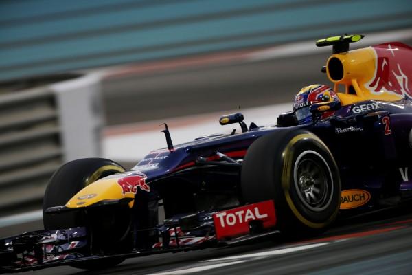 F1 ABOU DHABI 2013 - la RED BULL RENAULT de MATK WEBBER en pole le samedi 2 novembre