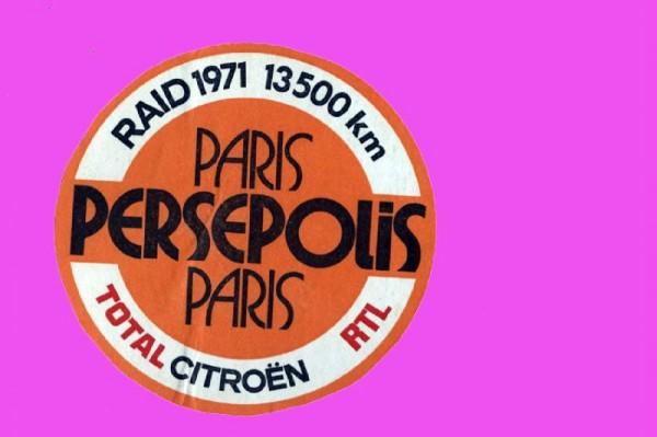 LOGO RALLYE PARIS PERSEPOLIS PARIS 1971