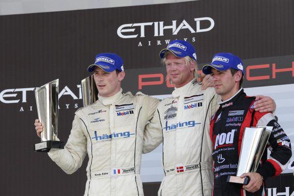 SUPERCUP-2013-ABOU-DHABI-Podium-1er-Nicki-Thiim-win-et-Kevin-Estre-second