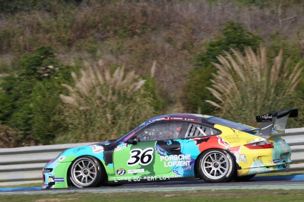 Vde V 2013 Estoril - La PORSCHE du Team PORSCHE LORIENT Racing des DEMORGE et Benjamin ROY