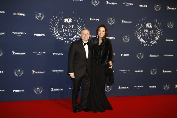 FIA REMISE DES PRIX Ve,ndredi 6 Decembre 2013 a PARIS - Jean TODT et Michele YEOH