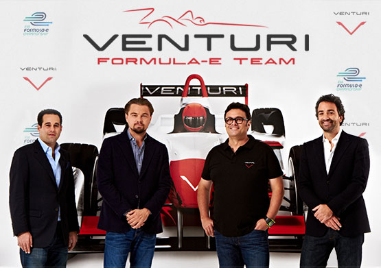 FOTMULE-E-Le-Team-VENTURI-DE-Gildo-PASTOR-PALLANCA-et-Leonardo-di-CAPRIO.