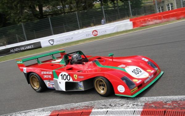 La Ferrari 312 PB ex Merzario-PACE pilote par Knapfield- Manfred GIET