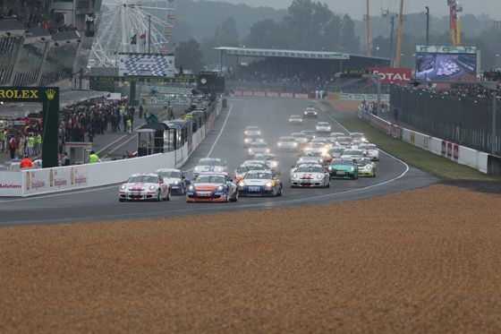PORSCHE-Depart-Le-Mans
