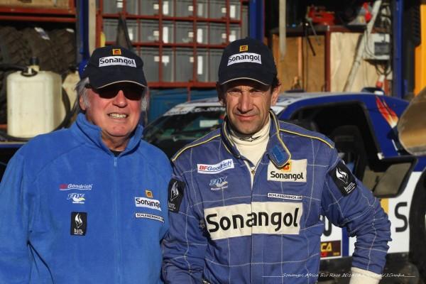 AFRICA RACE 2014 - les vainqueurs autos - Jean Louis SCHLESSER et Thierry MAGNALDI.