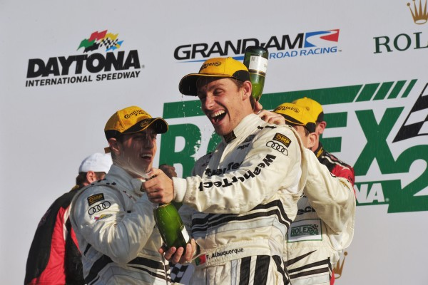 Albuquerque Victoire en 2013 aux 24 H de Daytona avec Audi.