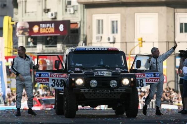 DAKAR 2011 -Départ à Buenos Aires du Bowler d'Arnaud Dubrisay-Patrick Martin.
