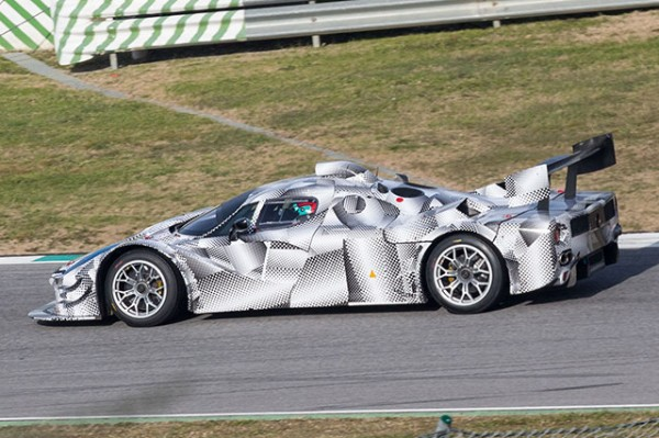 ENDURANCE 2014 - un proto FERRARI experimental au MUGELLO - photo Autosprint