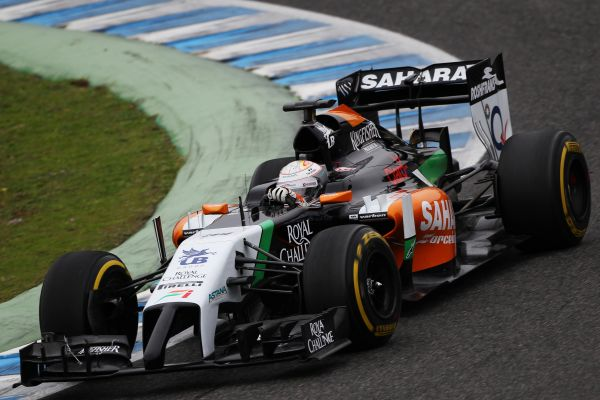 F1 2014 JEREZ DANIEL JUNCADELLA FORCE INDIA SAHARA