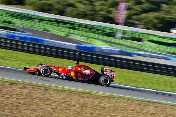 F1-2014-JEREZ-LA-FERRARI-DE-FERNANDO-ALONSO-le-JEUDI-30-JANVIER-photo-Max-MALKA