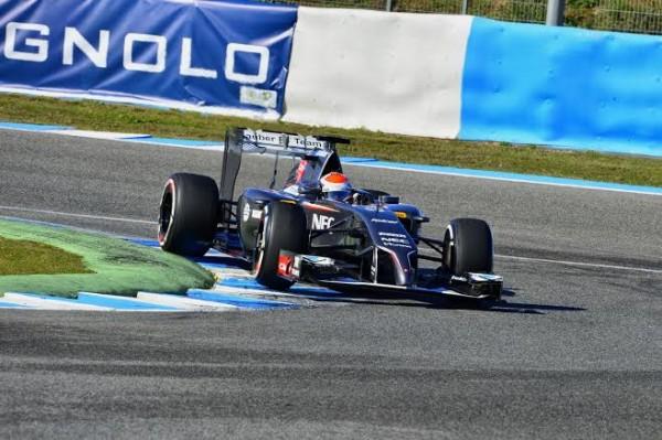 F1 2014 JEREZ LA SAUBER de SUTIL le JEUDI 30 JANVIER - photo Max MALKA