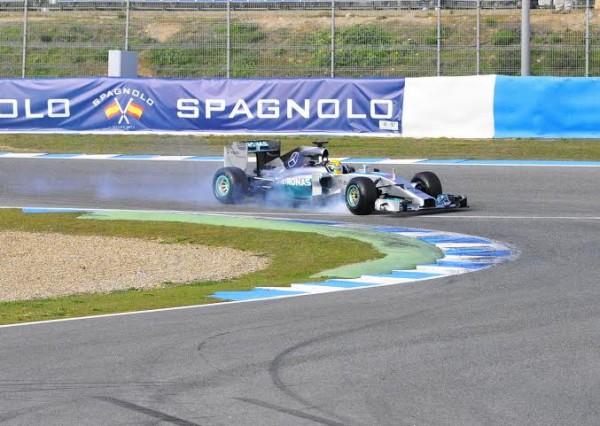 F1-2014-JEREZ-essai-28-Janvier-MERCEDES-de-LEWIS-HAMILTON-Photo-Max-MALKA.