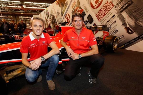 F1-2014-SALON-BIRMINGHAM-MAX-CHILTON-STAND-MARUSSIA