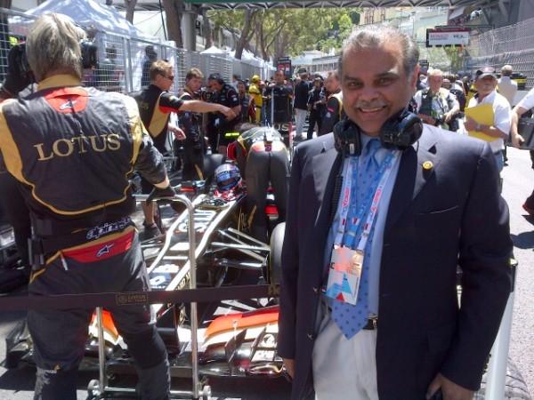 F1 Team LOTUS  -Mansoor  IJAZ au GP de MONACO 2013