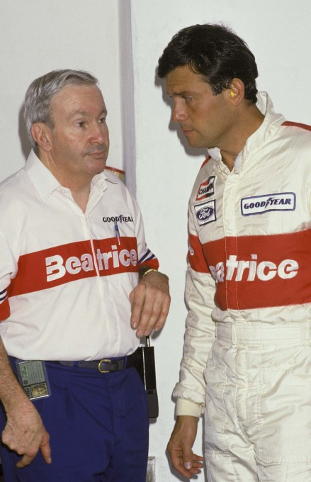 F1 Saison 1986  Le Team LOLA HAAS BEATRICE --Teddy-Mayer avec Patrick Tambay