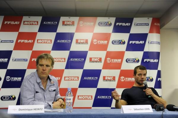 LOEB-Conf-presse-PAUL-RICARD-2011-annonce-creation-Team-SLR-avec-Dominique-HEITZ