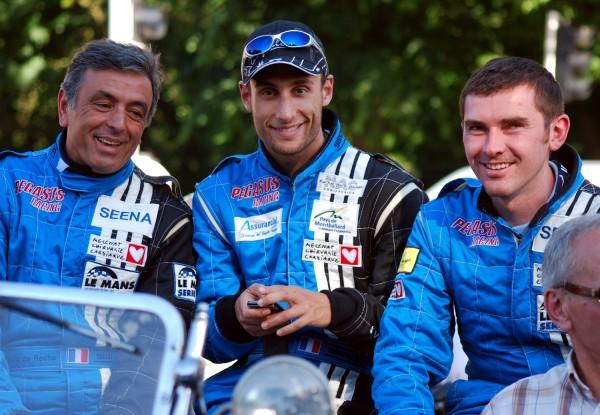 24 HEURES DU MANS 2011 - les pilotes du Team Pegasus -   Da Rocha - Zollinger et Julien Schell