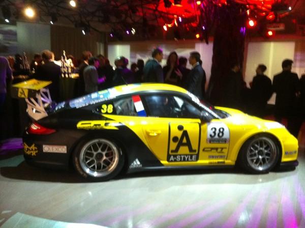 PORSCHE CIP 2013 la voiture de Gael CASTELLI le CHAMPION et Christophe LAPIERRE le Chamion B remise des Prix le 15 janvier 2014 a l'Electric