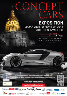 SALON CONCEPT CARS DE PARIS 2014 - Affiche
